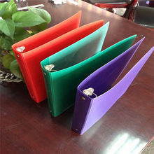 PP plastic ring binder A3 A4 A5 file folder with small edge pockets (conference folder)
