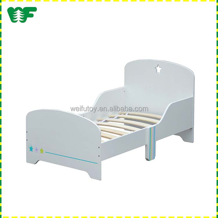 French style white wooden kids bed