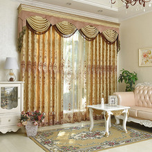 Luxury New Curtains High Precision Water Soluble Hollowed Embroidery Curtains Semi blind Curtains Custom Window Cortina