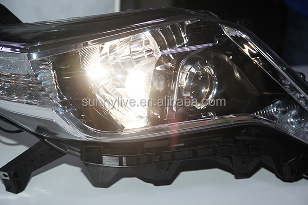 For TOYOTA 2014 year Land Cruiser Prado FJ150 LED Headlights Black Housing DEBO
