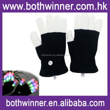 Colorful glowing gloves ,H0T442 magic peeling glove , knitted winter finger touch screen glove