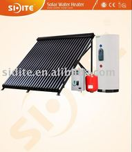 EN12975 Split Solar Water Heater with Heat Pipe Collector and Two Copper Coil in Tank