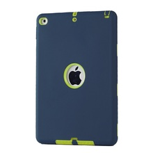 3 in1 Shockproof cover Heavy Duty PC+Silicone Hard Case Cover for ipad air 2