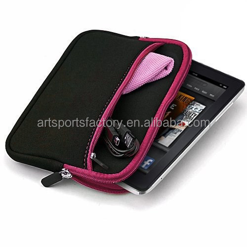 neoprene tablet pouch for 7inch tablet with front pocket