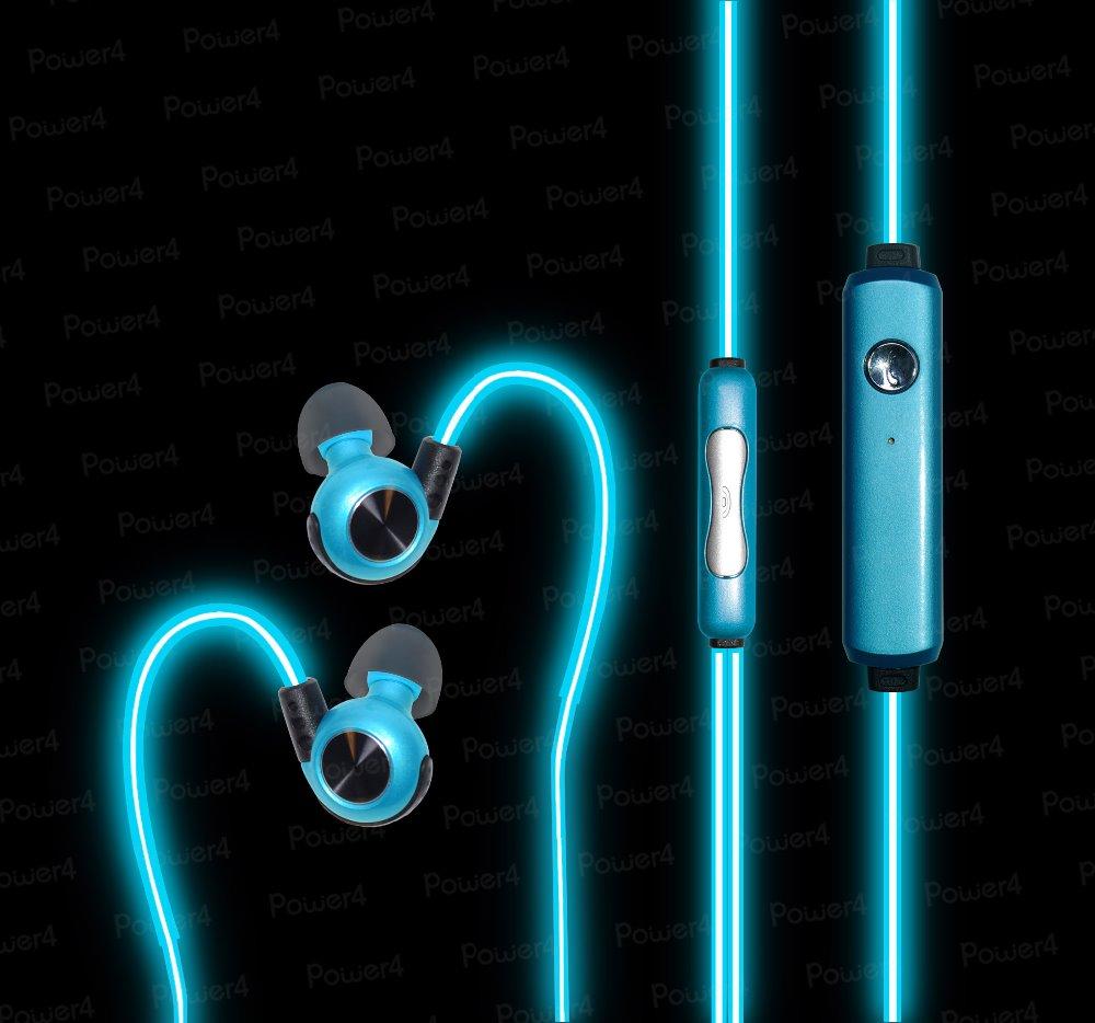 Newest athletic el light glowing headphones coolest