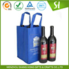 non woven wine bottle tote bag wholesale with pockets