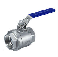 Stainless Steel 2 Piece Full Bore Ball Valve Screwed End, SS304 XT Valve