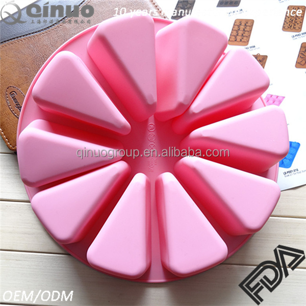 Hot sale watermelon shaped silicone chocolate cake hand soap pudding mold