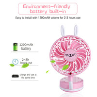 Funny foldable usb rechargeable portable mini battery operated fan for kids
