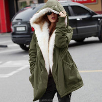 New Winter Wool Jacket Women Coat Warm Casual Girls Outwear Ladies Overcoat