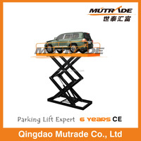 4000kg load weight scissor elevator car parking system