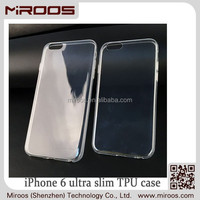 MIROOS clear soft silicone gel slim tpu crystal case for iphone 6, for iphone6 ultra thin case