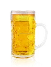 ABT Glassware - 1 Liter Dimpled Glass Beer Stein