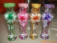 beautiful handicraft glass bottle