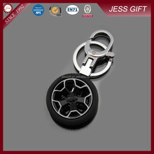 Promotional wheel metal car keychain for promotion