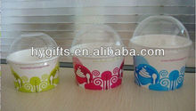 Customized ice cream paper cup and lids