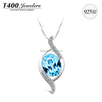T400 fashion jewelry crystal from swarovski pendant necklace 925 sterling silver 10586