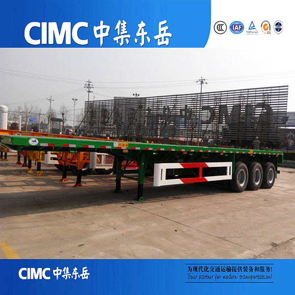 CIMC CE Standard Platform 60 Tonnage Capacity 40ft Flatbed Semi Trailer Sale In Dubai