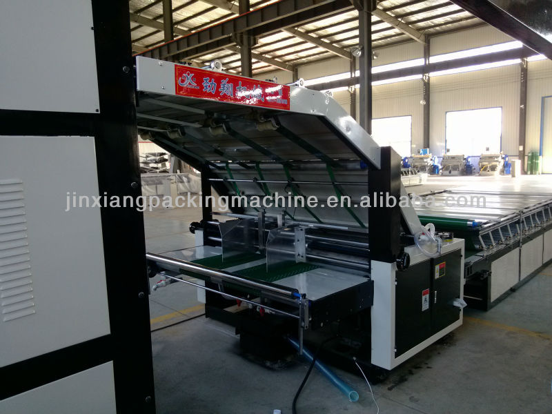 new lift type flute laminating machine
