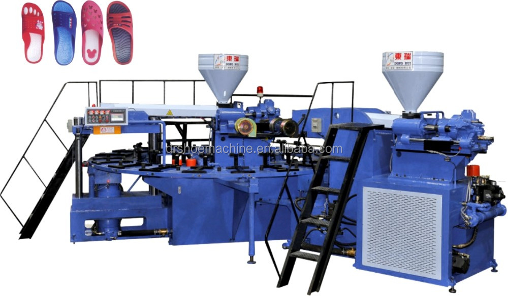 Two Colors PVC air blowing injection moulding making machine