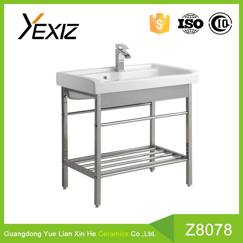Z8078 durable rectangle ceramic stainless steel stand lab sink
