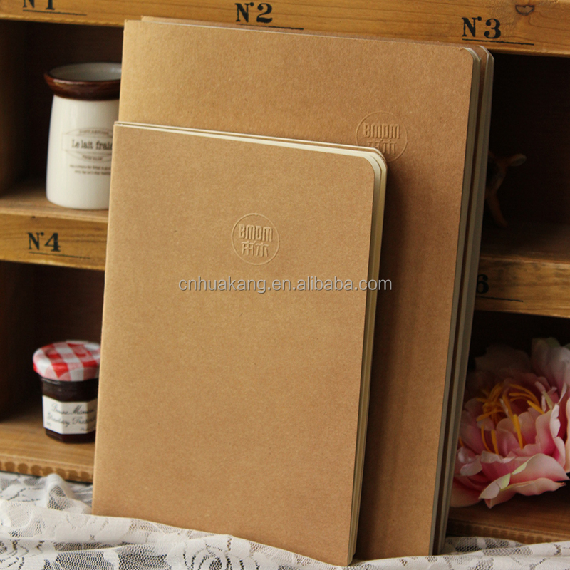 Hot sale customized kraft paper cover offset printing A5 notebook ,notepad,exercise book