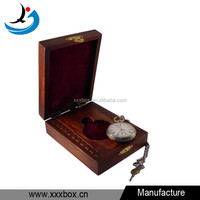 Wooden handmade antique style pocket watch box