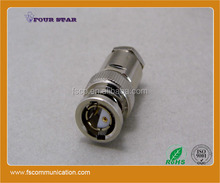 multi core coaxial cable 2 pins plug and jack clamp rf bq bnc connector