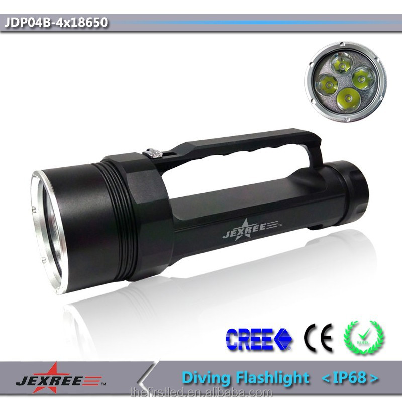 Jexree 2015 flashlight driver 4000lm led professional dive torch led diving torch