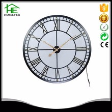 customized modern design large led light wall mount clock