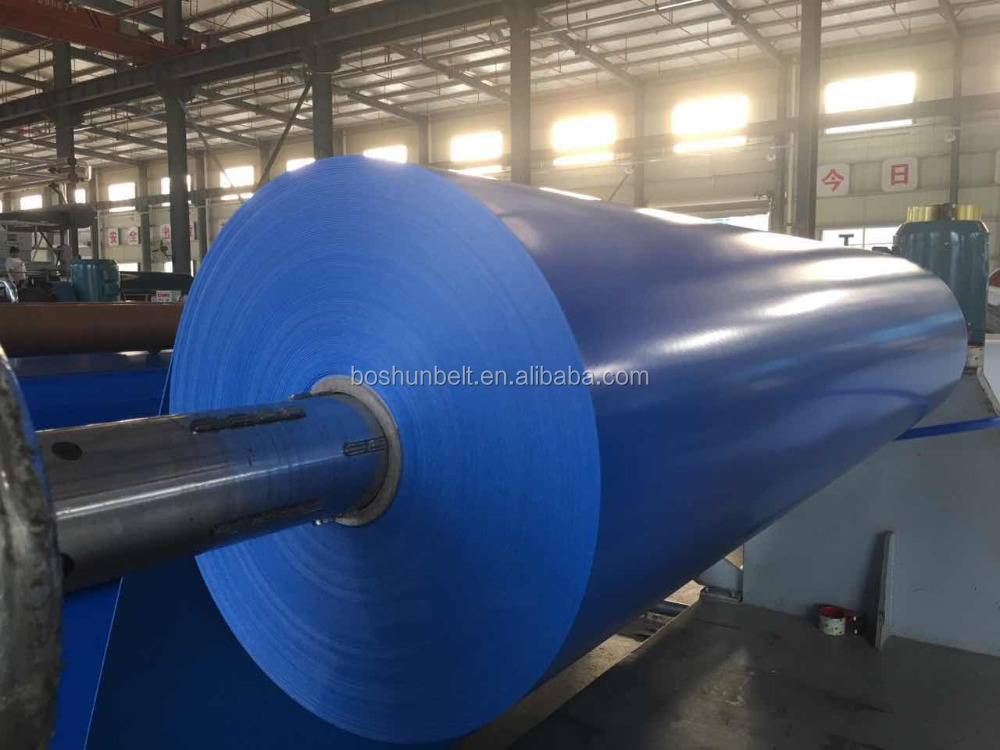 2mm blue PVC conveyor belt for food conveying