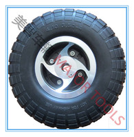 10 inch flat free pu foam wheelchair wheel