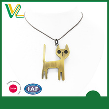 OEM Design Latest design Zinc Alloy Anti-gold Cat Cotton Rope Jewellery Chain Necklaces for lady