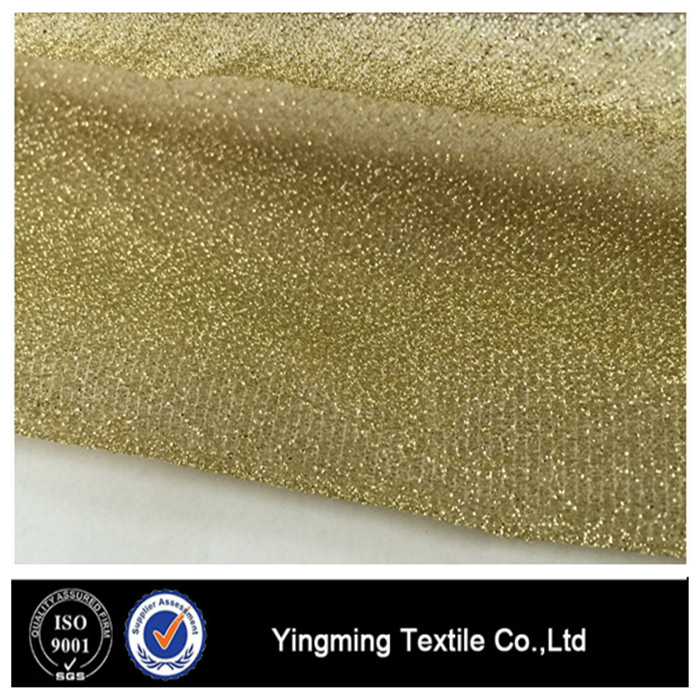 Alibaba China Mesh Glitter Metallic Fabric for Dress, Cloth and Party Decoration