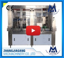 Factory beverage equipment manufacturers for automatic aluminum tin can soft drink beer filling and seaming machine