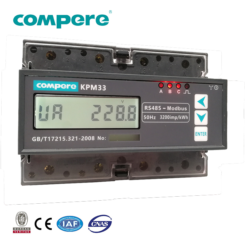 DIN rail smart dc bi-directional energy meter
