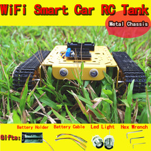 Official DOIT Metal WiFi Robot Tank Car Chassis T200 NodeMCU Development Kit with L293D Motor Shield