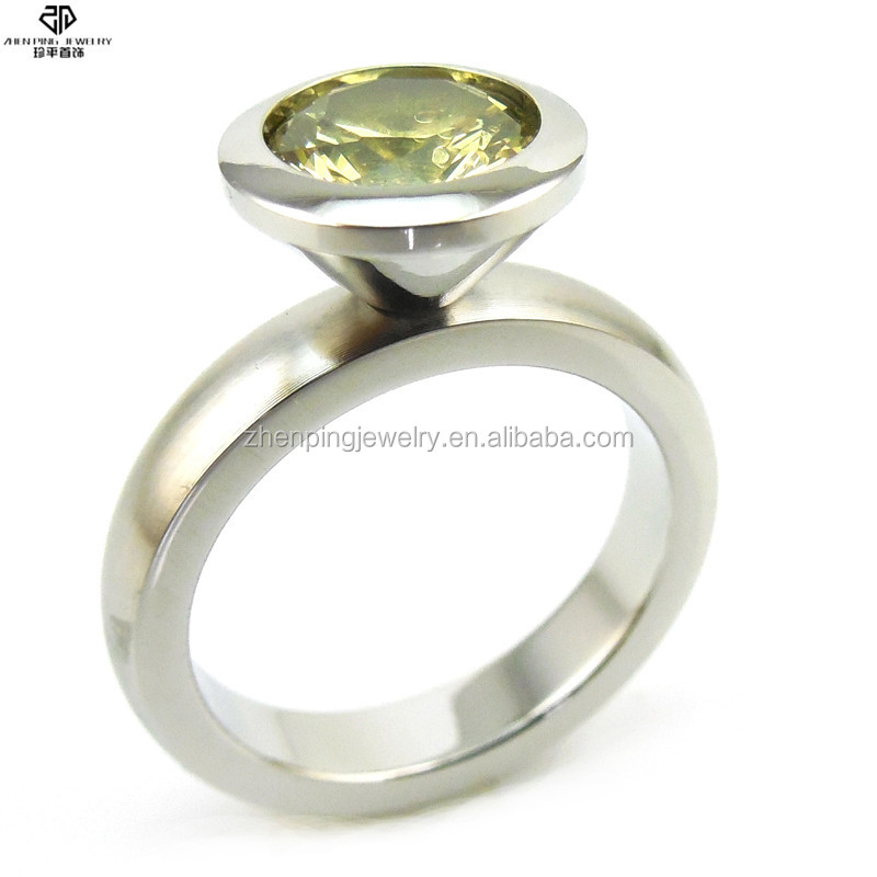 DIY birthstones colors stainless steel rings diamond engagement ring with drop shipping