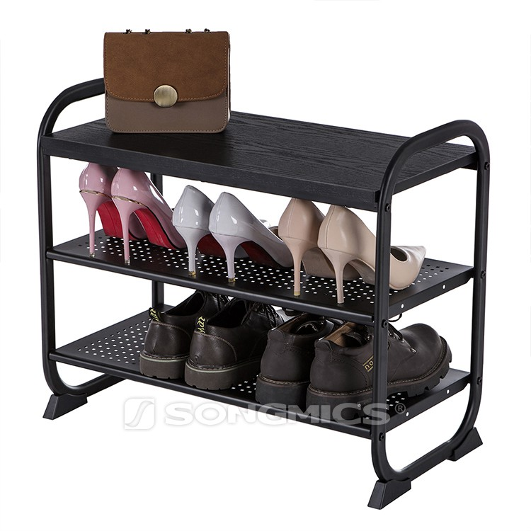 Antique shoe bench rack handle and shelves, custom heavy duty home furniture fittings door shoes display rack store for boutique