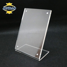 JINBAO custom clear magnetic acrylic a4 sign free standing holders 8.5 x 11