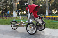 2016 new products mother and baby stroller bicycle 3 wheel electric scooter