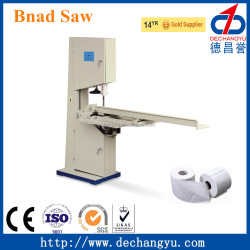 toilet paper log cutting band saw