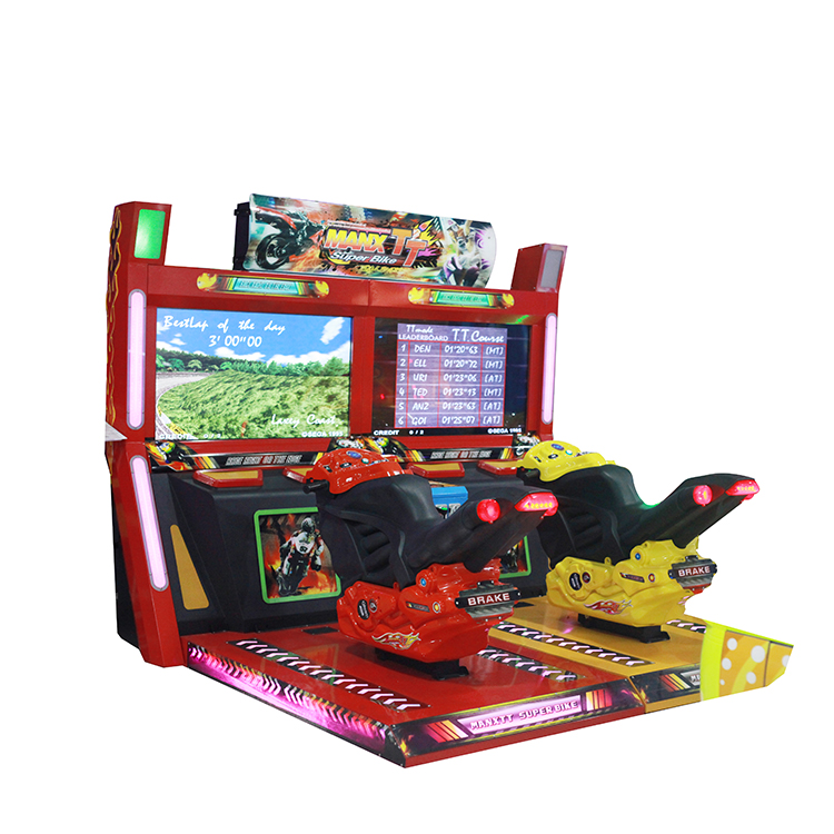 Arcade Game Machine TT Moto Simulator With 2 Player For Sale