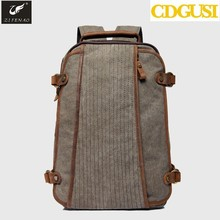 Women Canvas Backpack For School Female Fashion Sport Laptop PU Leather Back Pack Vintage Bag Casual Daypacks Rucksack