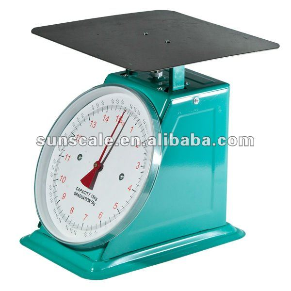 Stainless Flat Plat 30kg Mechanical Spring Scale