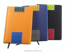 high quality pu leather personalized hard cover a5 diary notebook