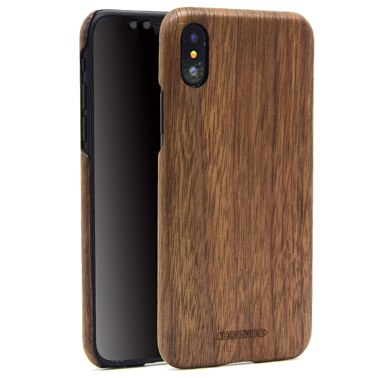 Showkoo Kevlar Natural Wood Cell Phone Cases Custom Bamboo for IPhone case 7 8 Original Wood Cover For I Phone X