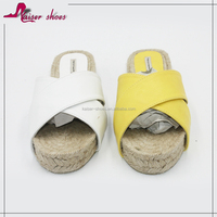SSK16-562 new style comfortable flat slip espadrille shoes