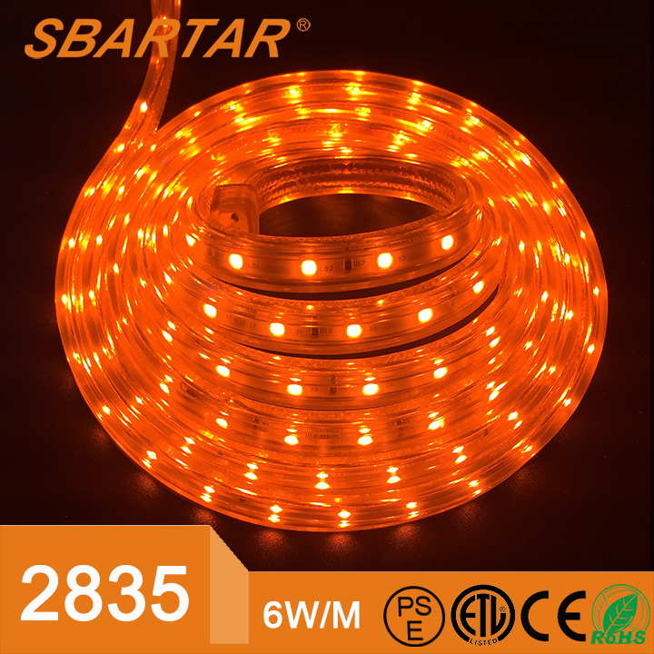 SMD 2835 60leds/<strong>M</strong> 120V/220V input 6W/<strong>M</strong> Home Accents Holiday LED strip