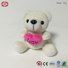Cute white teddy bear with heart love plush soft toy